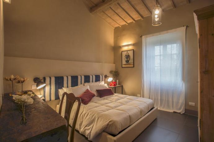 camera-matrimoniale a Magione Villa con SPA e piscina