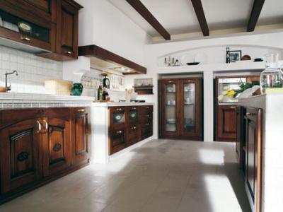 Cucina finta muratura in Legno Massello CASTELLANA Cucine ...
