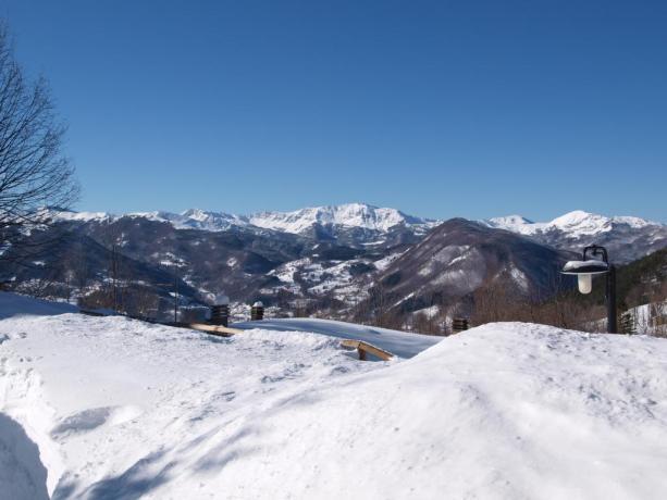 Appartamenti sul monte Cimone con sport invernali
