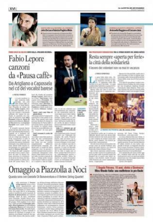 Cantante ed Insegnante di Canto Fabio-Lepore: Gazzetta-del-Mezzogiorno