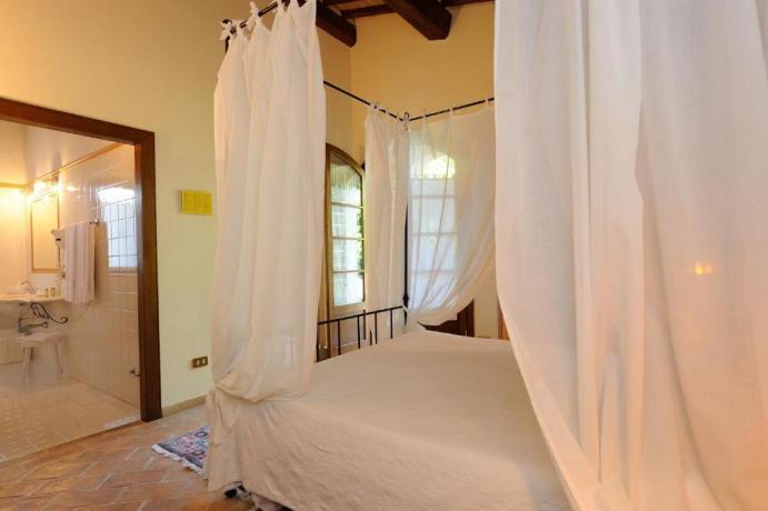 Junior Suite con vasca idromassaggio e Baldacchino