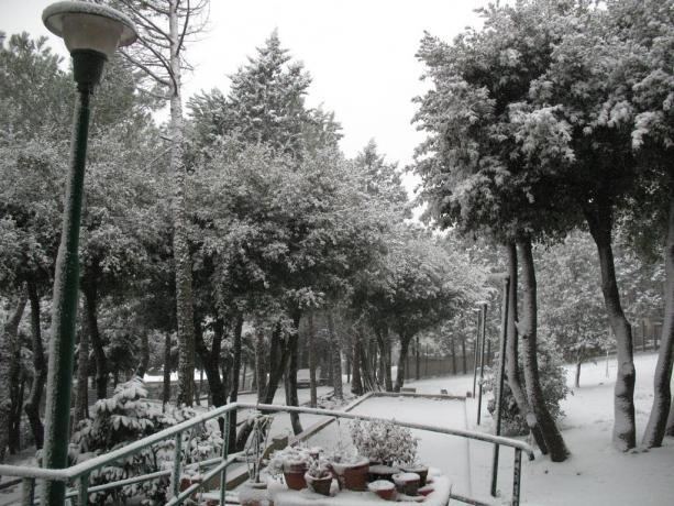 Paesaggio invernale B&B a Corciano
