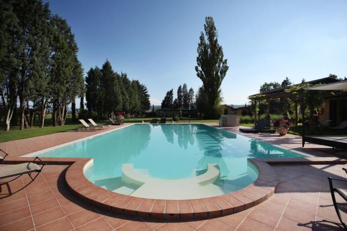 Piscina con Solarium ad Assisi