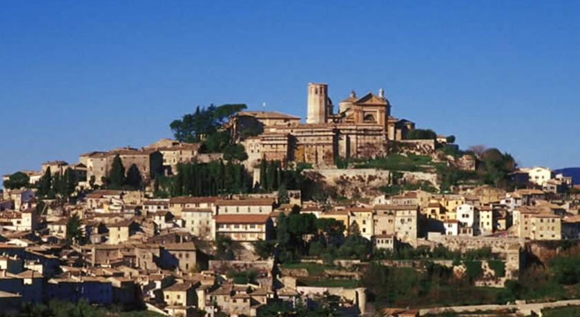 Il paese di Amelia, provincia di Terni