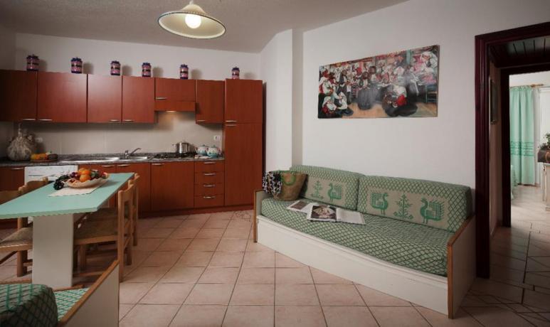 Cucina Appartamento Villa Sa Prama vicino Cala Ginepro