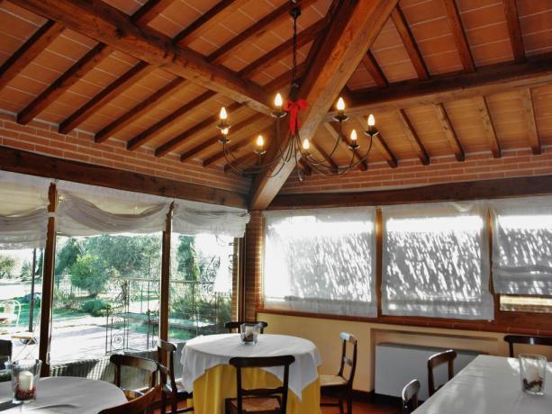 Camere Lago Trasimeno, Ristorante cucina Umbra e Toscana