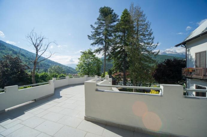 Appartamento-vacanze bilocale M Bardonecchia con terrazzo panoramico