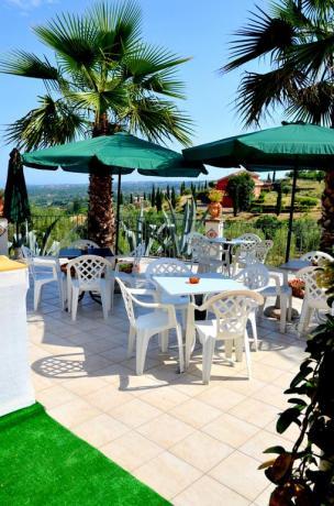 Terrazza panoramica B&B Santa Venerina vicino Parco Etna