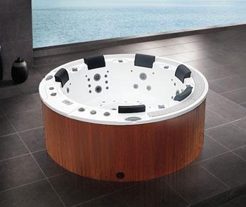 Mini piscina Idromassaggio circolare 6 posti