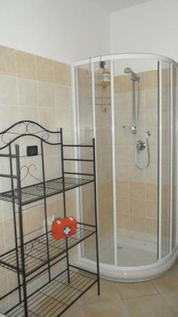 Bagno con doccia agriturismo a Protte vicino Spoleto