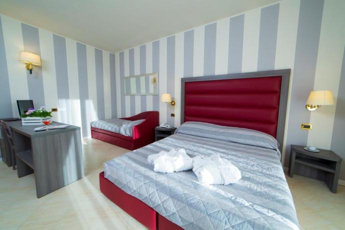 Camere confortevoli di diverse tipologie Hotel Cascia