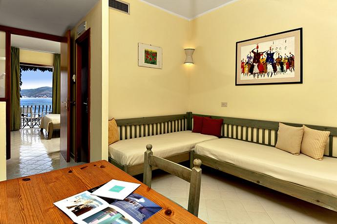 Camere fronte Mare in Resort APPRODO nel Cilento