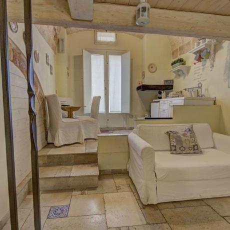 Appartamenti con ampi saloni a Polignano in B&B