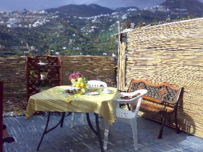 Colazione all'aperto in terrazzo