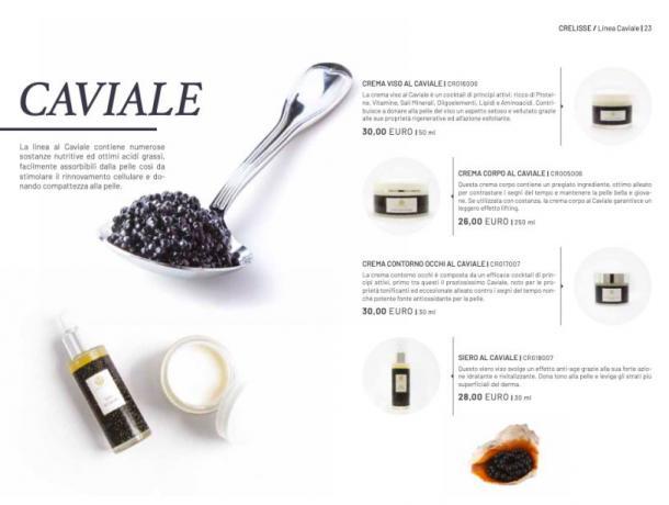 Imperya Catalogo:  Creme e siero al Caviale