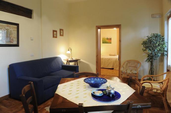 Soggiorno Appartamento Il Cedro in Umbria