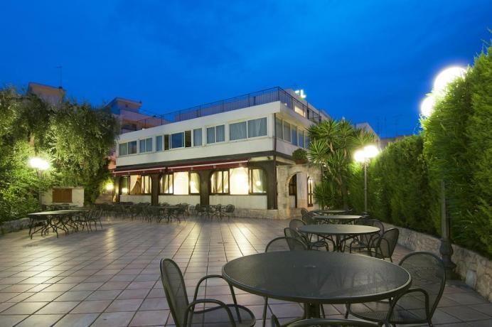 Struttura esterna hotel vicino al mare in Puglia