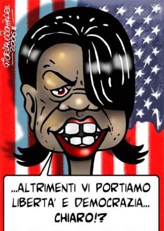 Vignetta   Condoleeza Rice   Umorismo   Fumetti
