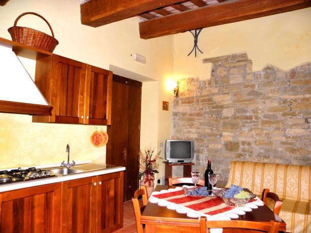 Cucina Appartamento in Agriturismo a Gubbio