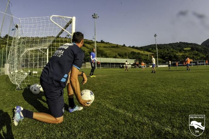 Pescara-Calcio in ritiro sul Gran Sasso a Lucoli