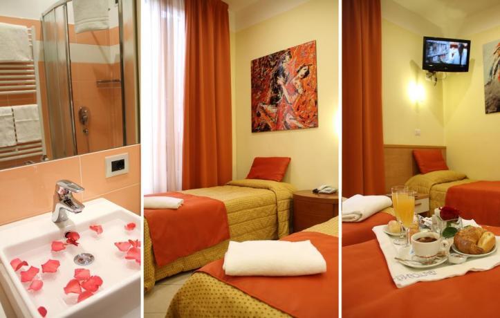 Camera Tripla a Milano: bagno privato e colazione