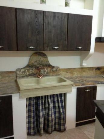 Lavello in pietra cucina contadina Cucine Legno Massello ...