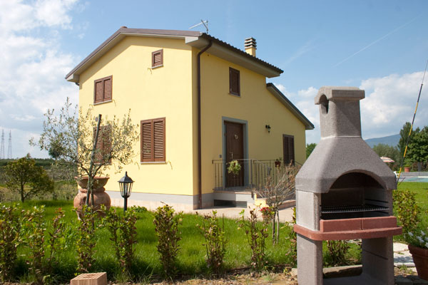 Casa vacanze con area barbecue a Cortona