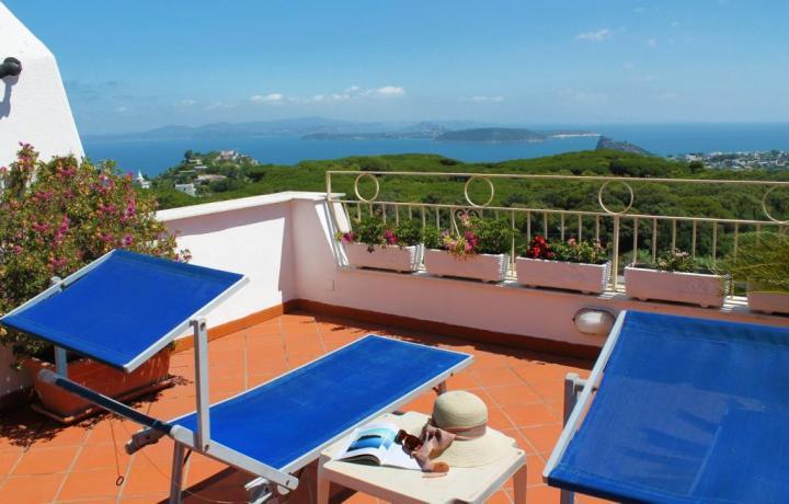 Terrazzo panoramico casa vacanze a Barano d'Ischia