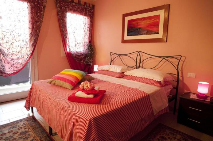 Appartamento Papavero camera da letto