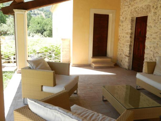 Salotto esterno Antica Residenza ideale per famiglie