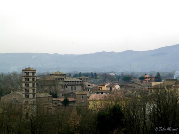 Veduta panoramica di Vasanello nella Tuscia