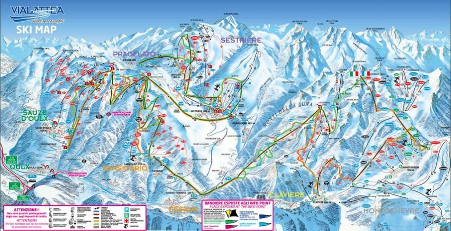 Mappa Via Lattea Villaggio Blu Serena Sestriere
