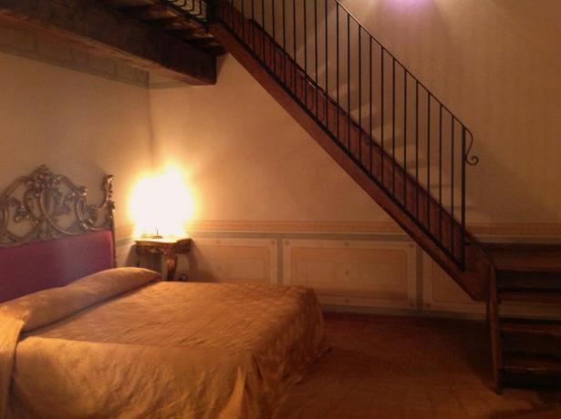 Camera due letti matrimoniali due piani Antica Residenza