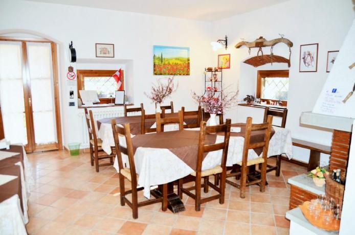 sala ristorante ad Arezzo in B&B La Valeria