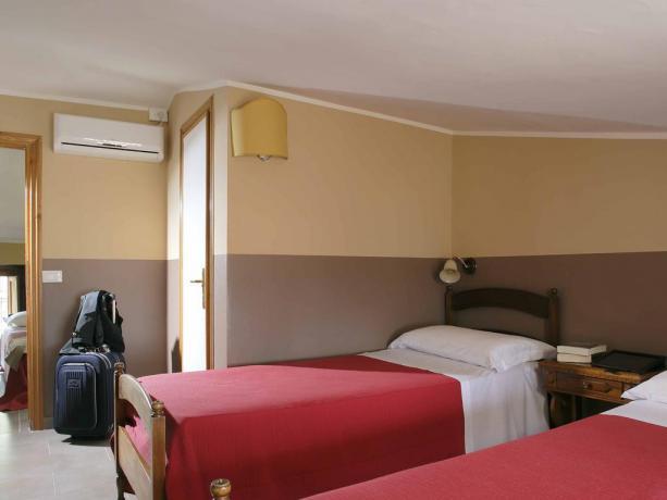 Camera con 4 posti letto ad Assisi