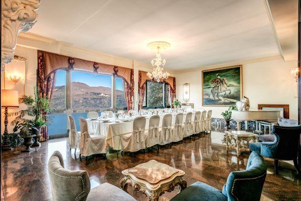 Sala per cerimonie all'hotel di Castel Gandolfo