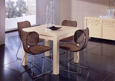 Tavoli e sedie da interno in vimini mobili vimini e bambu - Sedie e tavoli da cucina ...