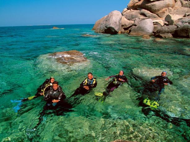 CALASERENA Corsi di immersioni nel Mar Mediterraneo