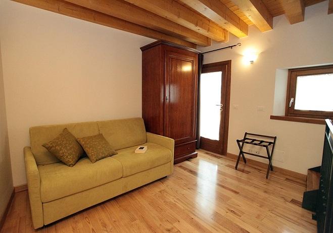 Alloggio 5C con divano letto al primo piano