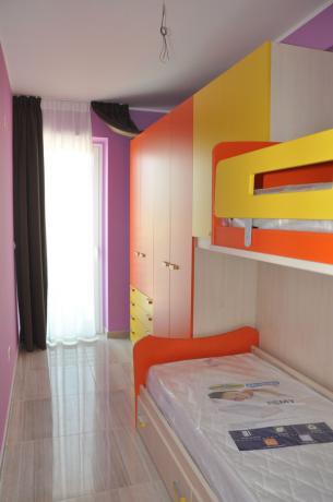 Camera con letto castello Residence per Famiglie