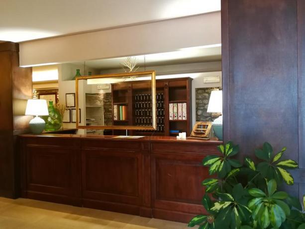 Reception hotel3stelle centro Assisi 10minuti San Francesco