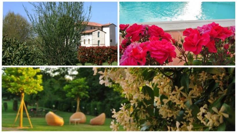 Hotel vicino San Gimignano, giardino, parcheggio, piscina