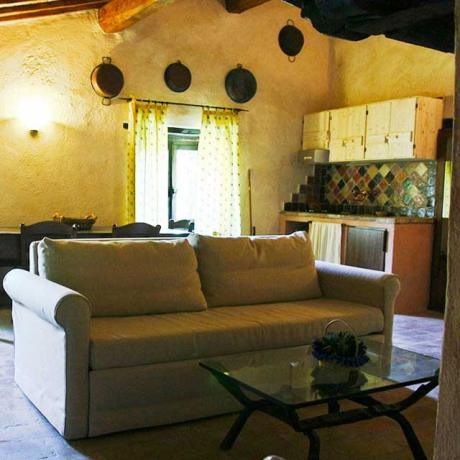 Salotto Appartamento Casale nel Bosco Assisi