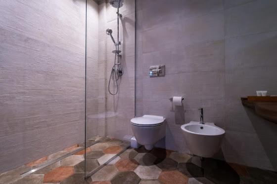 Bagno in camera a Gubbio in Agriturismo