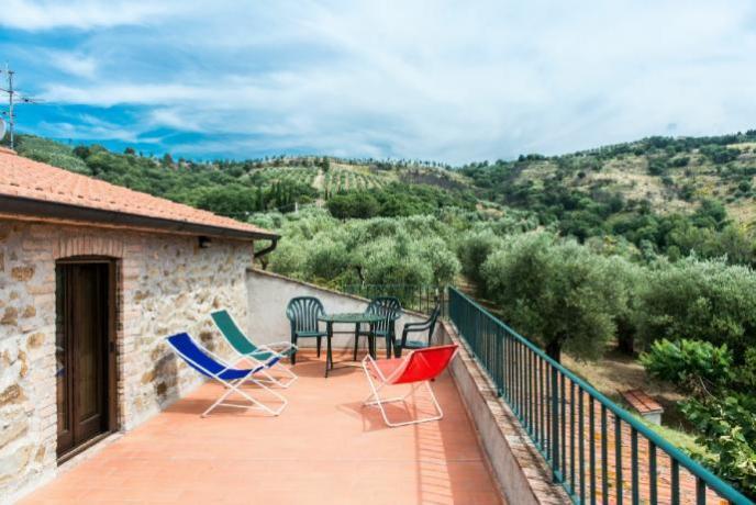 Terrazza panoramica App.to Piccionaia sul lago Trasimeno