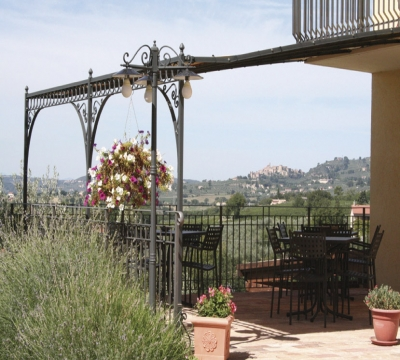 Panoramic view of the Pergola in the Country House San Marco