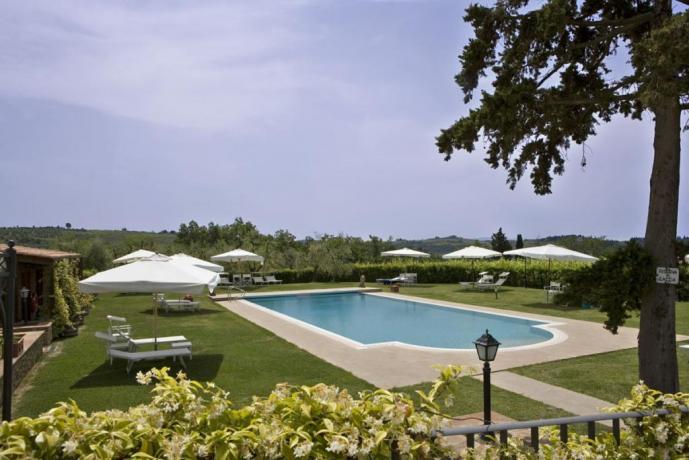 Agriturismo nel Chianti con Piscina panoramica