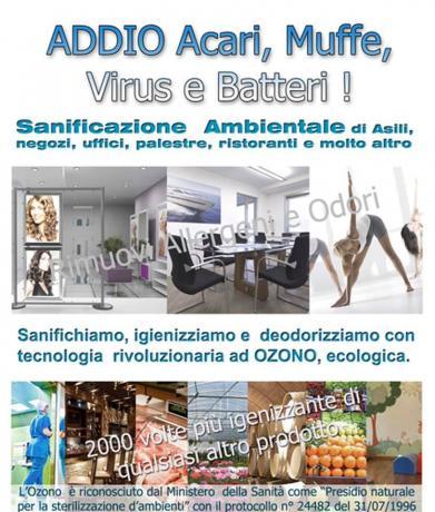 Sanificazione Ambientale Ozono per COVID-19 (Caltagirone-Catania)