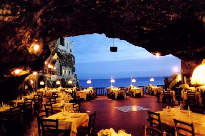 Tipical Seaside Restaurant inside the Cave