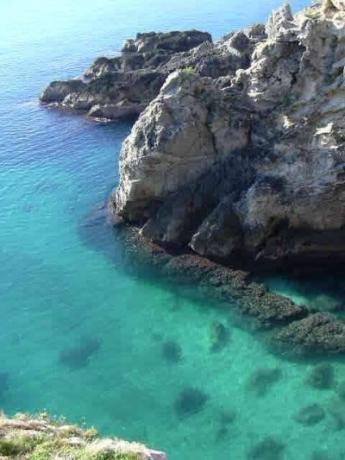 The coast of Salento